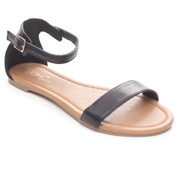 2baefe80ec5 Women s Summer Ankle Strap Flat Slide Sandals